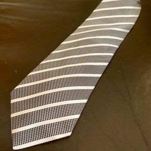Giorgio Armani Regimental Tooled Silk Tie